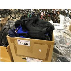 BOX OF ASSORTED CLOTHING AND ACCESSORIES