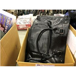 BOX OF PURSES, SHOES AND ACCESSORIES