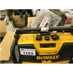 DEWALT JOB SITE RADIO, SMALL DRONE, AND ELECTRONICS