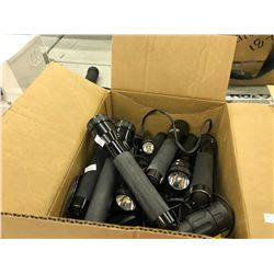 BOX OF FLASHLIGHTS AND MORE