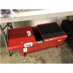 RED METAL SLIDING TOP TOOL BOX