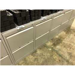 GREY 2 DRAWER LEGAL SIZE VERTICAL FILE CABINET