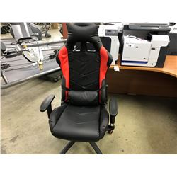 RED AND BLACK ADJUSTABLE RACING/GAMING CHAIR