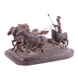 Roman Chariot Original Wax Sculpture