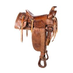 Charles P. Shipley Tooled Saddle 1890-1910's