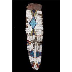 Ute Tail Fully Beaded War Paint Belt Bag 1860-1880