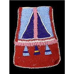 Lakota Sioux Fully Beaded Tomahawk Drop 19th C.