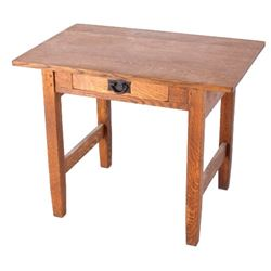 Early Mission Arts & Crafts Oak Occasional Table