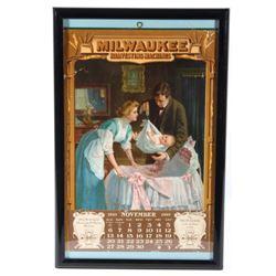 1910 Milwaukee Calendar Doctor Lithograph