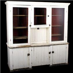 Mercantile Primitive Beadboard Hutch 1800's