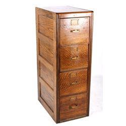 Library Bureau Sole Makers Oak Filing Cabinet
