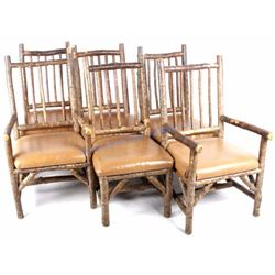 La Lune Collection Rustic Hickory & Leather Chairs
