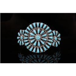 Navajo Petite Point Turquoise Bracelet