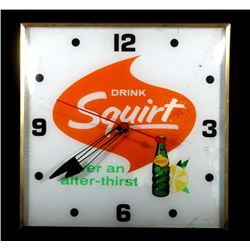 Vintage Analog Squirt Soda Advertising Clock