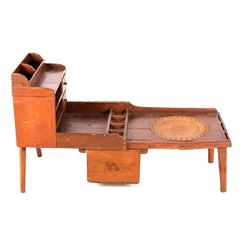 19th Century Cobblers Bench w/ Ornate leather Seat