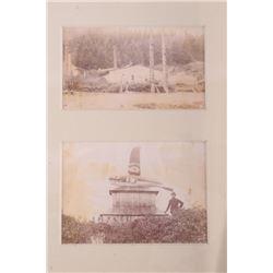 Haida Indians Original Photograph in Kasaan 1800's