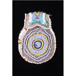 Sioux Fully Beaded Medicine Pouch c. 1890-1900