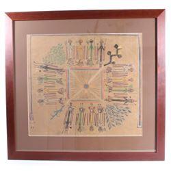 Early 1900's Navajo Yei Bichei & Rainbow Yei Art