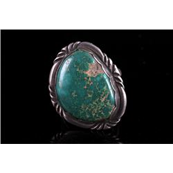 Old Pawn Pilot Mountain Turquoise Ring