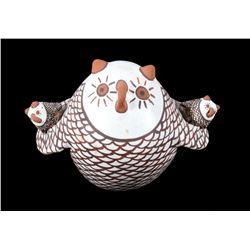 Zuni Polychrome Pottery Owl Figure Effigy c. 1900-