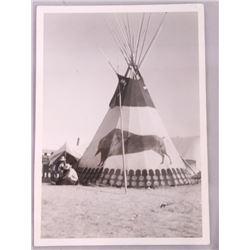 Blackfeet Tepee Original Photograph Browning MT