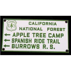 California National Forest Porcelain Enamel Sign