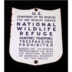 U.S. Fish & Wildlife Service Porcelain Enamel Sign
