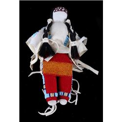 Native American Made Beaded Shawl Crow Indian Doll