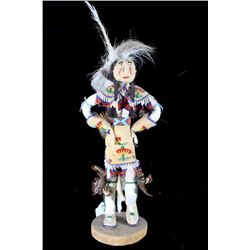 Shoshone Beaded Hide Doll circa 1920's