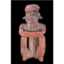 Rare Mayan Pottery Human Effigy Figure c. 500 A.D.