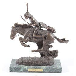 """Cheyenne"" Bronze Sculpture by Frederic Remington"