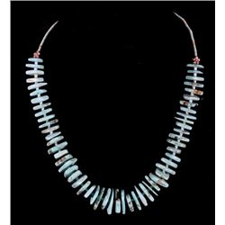 Native American Turquoise Discoidal Necklace