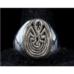 The Maze of Life Sterling silver and 14K Gold Ring
