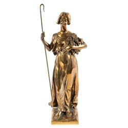 1899 E. F. Pialli Original Bronze Sculpture