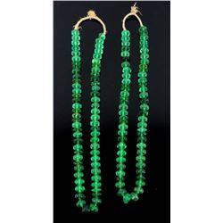 """Anna Green"" Vaseline Trade Beads"