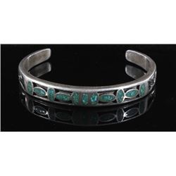 Chip Turquoise and Sterling Silver Cuff