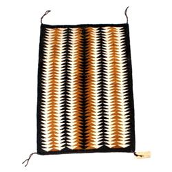 Hopi Indian Mohair Woven Eye Dazzler Rug