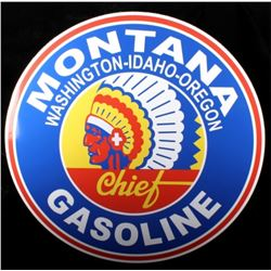 Montana Chief Gasoline Advertising Sign