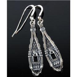 Pair of Sterling Silver Snowshoe Earrings