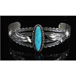 Bell Trading Post Sterling & Turquoise Cuff