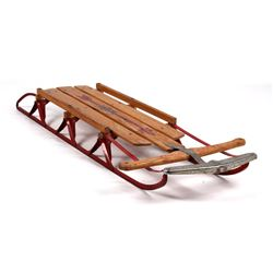 Flexible Flyer Metal and Wood Snow Sled