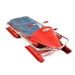 Bob -O- Link Bobsled With padding c. 1940's- 1960