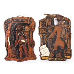 Old Western Carved Plaques Handmade (2)