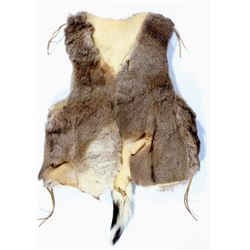 Plains Indian Tanned Deer Hide Vest