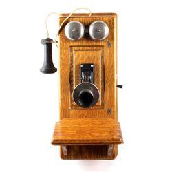 Kellogg Oak Wall Switchboard Telephone