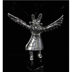 Sterling Silver Dancing Eagle Kachina Pendant