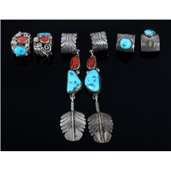 Signed Navajo Sterling Silver Ear Cuff Collection