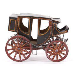 Early Folk Art Western Tin Stage Coach