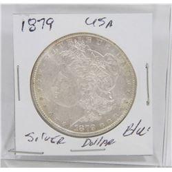 1879 USA SILVER MORGAN DOLLAR