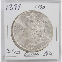1897 USA SILVER MORGAN DOLLAR
